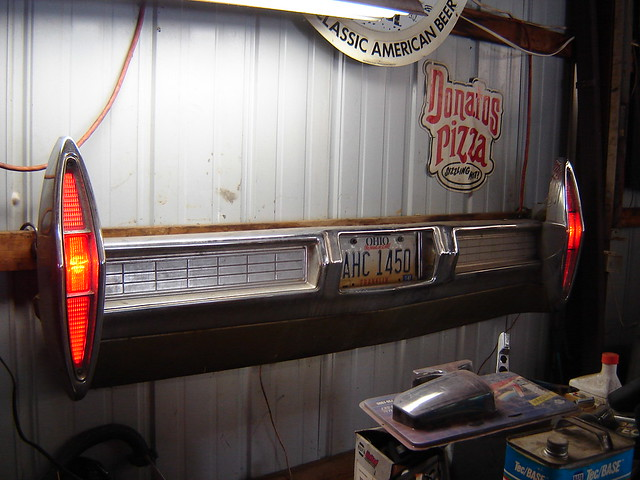 Automotive Wall Art 1967 Cadillac Rear Bumper Hanging On