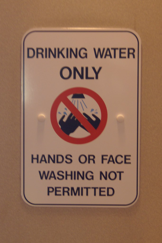 Drinking Water ONLY - Hands or Face washing not permitted | Flickr Water In Hand