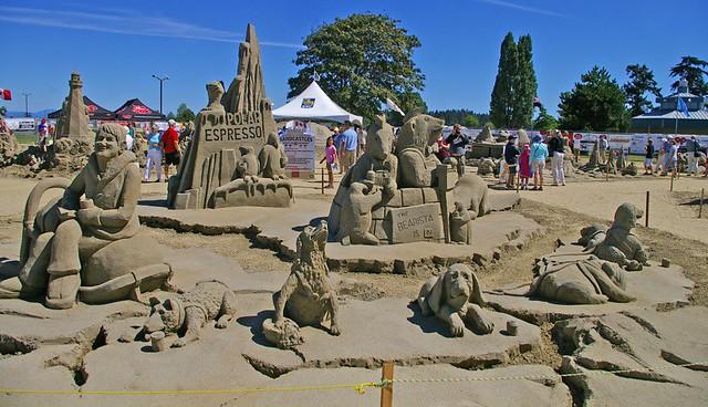 Parksville Beach Fest Sandcastles By Sarah