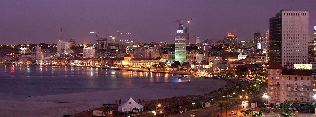 Luanda Panorama Do Marginal Visto Da Fortaleza See