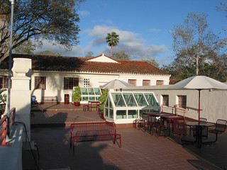 2nd floor terrace of the Belltower Building | by California State University Channel Islands