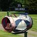 Golf Bag Mailbox