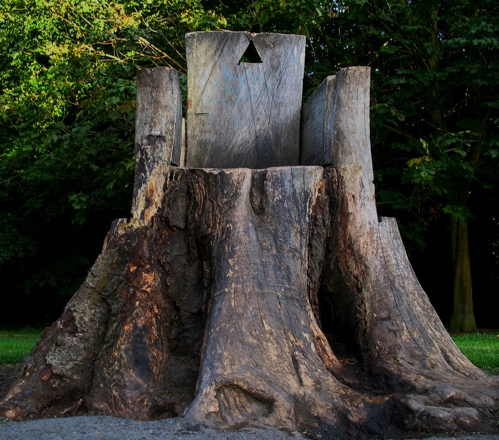 Tree Stump Seat | View Large A Seat/chair Has Been Carved Inu2026 | Flickr