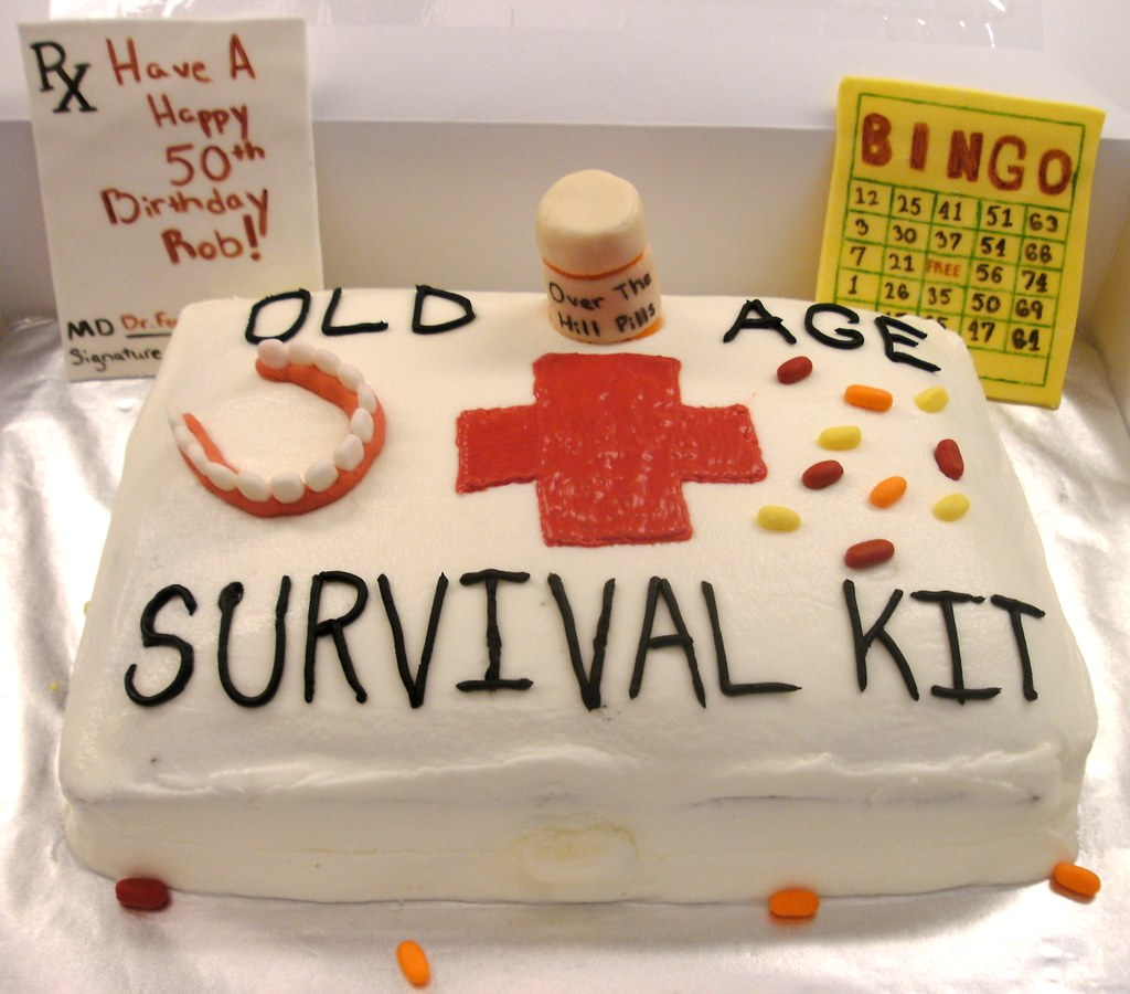 Old Age Survival Kit Single Layer 9x13 Quot Chocolate Cake