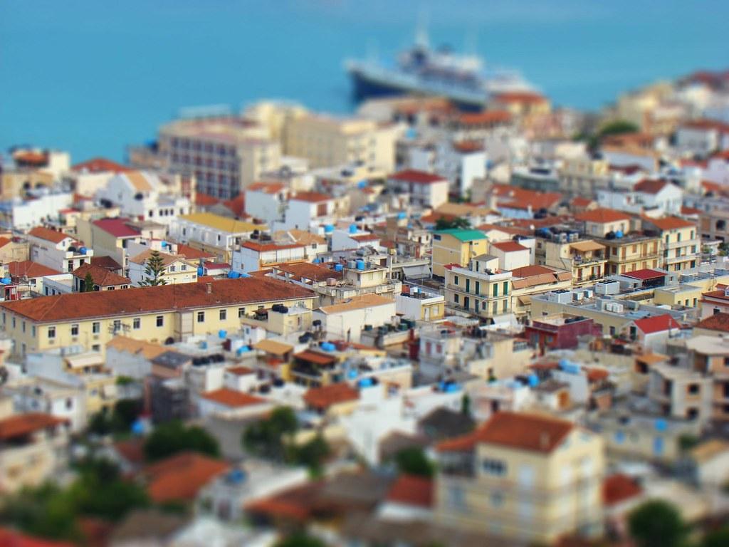 Zante Town - Fake Miniature  Regular photo made to look ...