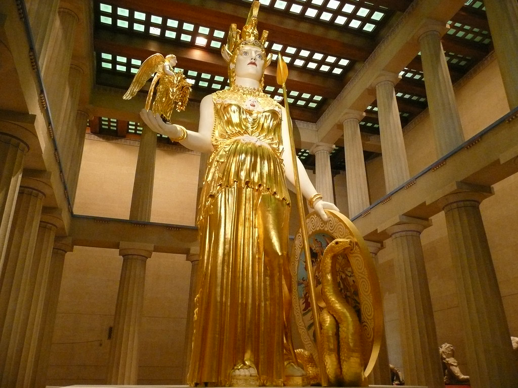 athena inside the parthenon the nashville athena www