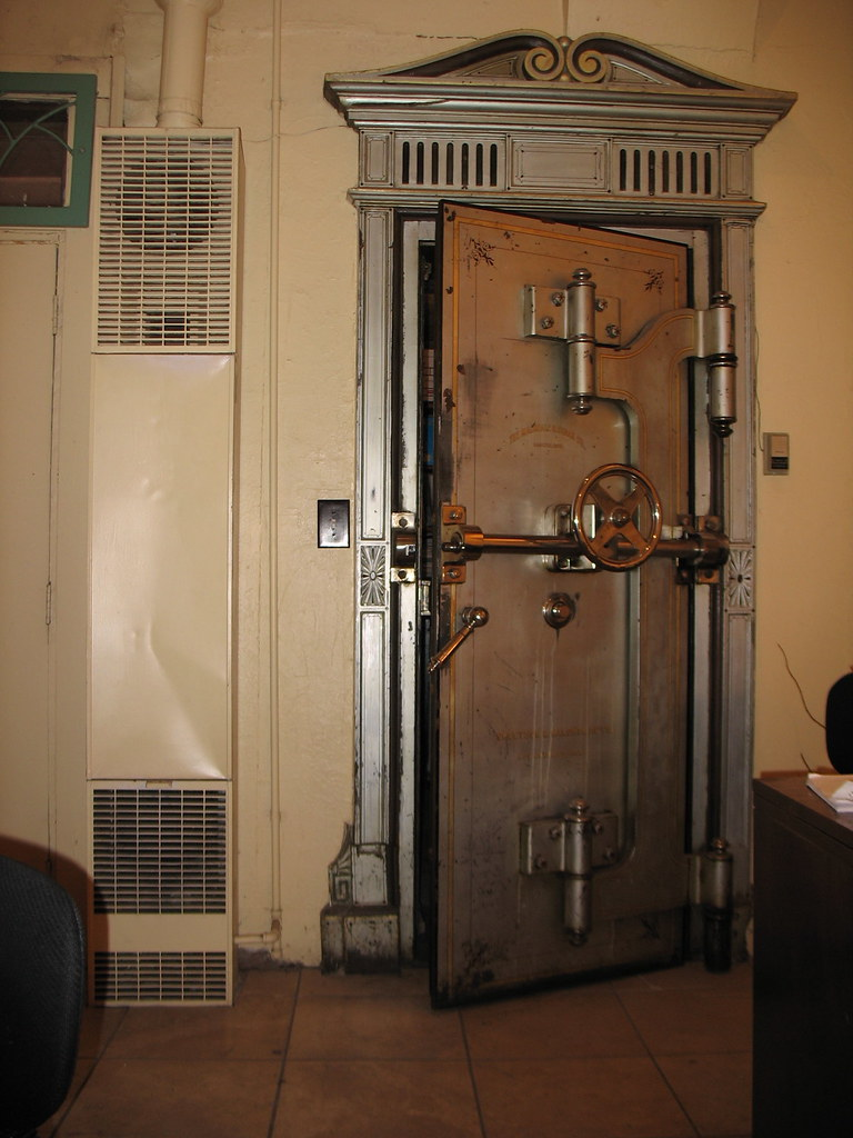 Old Bank Vault Door | In a jewellery shop in Flagstaff. | Brent Gulanowski | Flickr