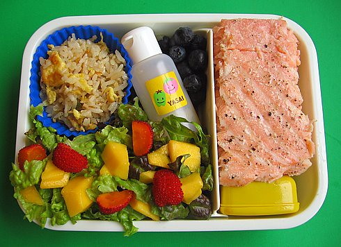 Salmon & salad lunch | by Biggie*