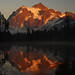 Sunset on Picture Lake and Mount Shuksan