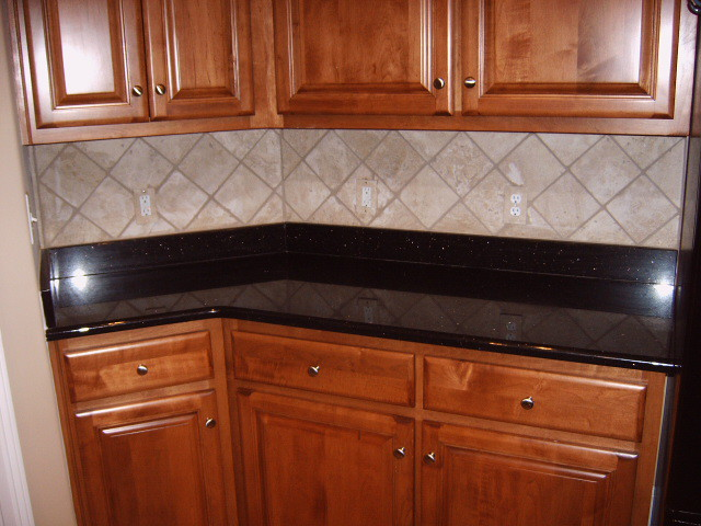 ... Travertine Tile Kitchen Backsplash | By Cupan Custom Tile And Paint