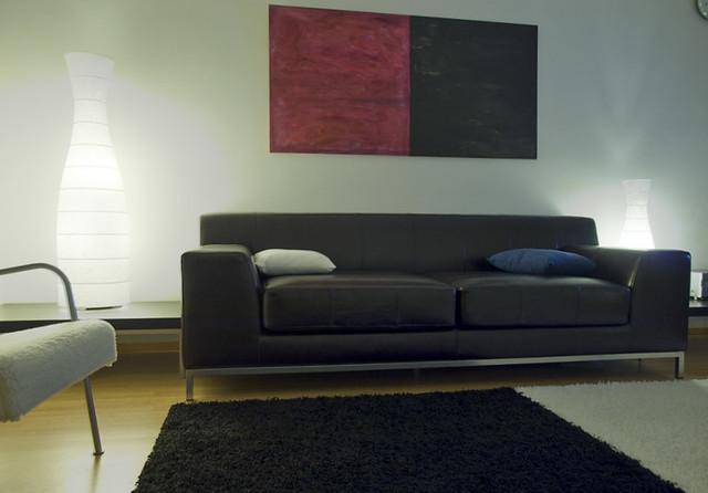 Wohnzimmermöbel Ikea : IKEA Brown Leather Sofa