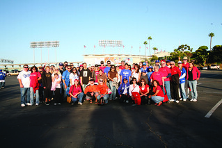 Alumni & Friends Association Dodger Night group picture | by California State University Channel Islands