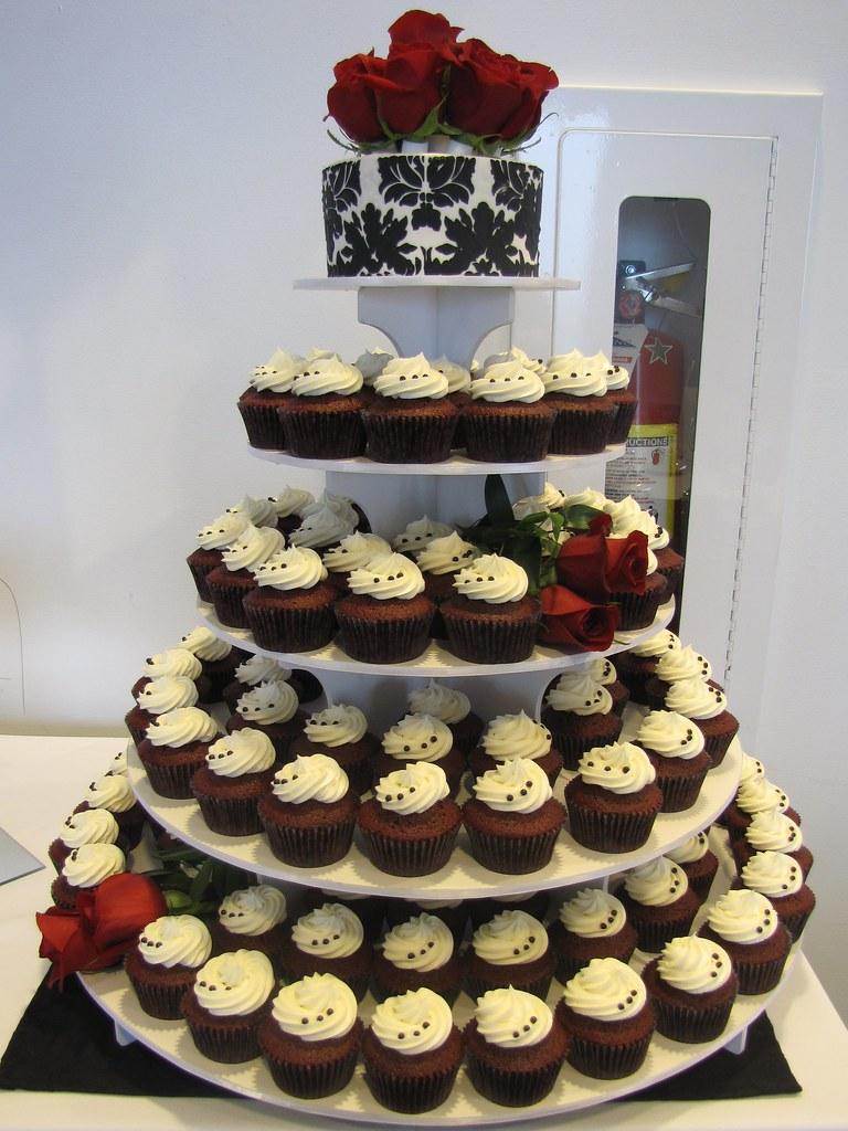 Ganache Covered Wedding Cake