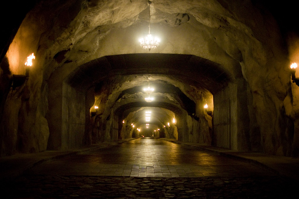 Torch lit tunnel into Capella Pedregal Resort in Cabo | Flickr