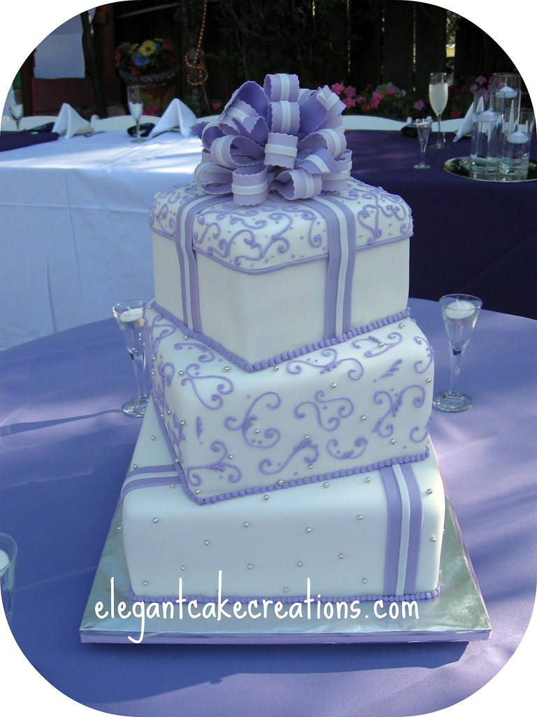 Lilac Gift Boxes Wedding Cake Offset Stacked Gift Boxes