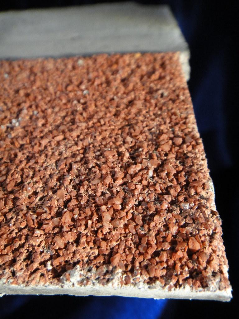 Asbestos In Fire Brick : Close up faux brick asbestos cement shingle of