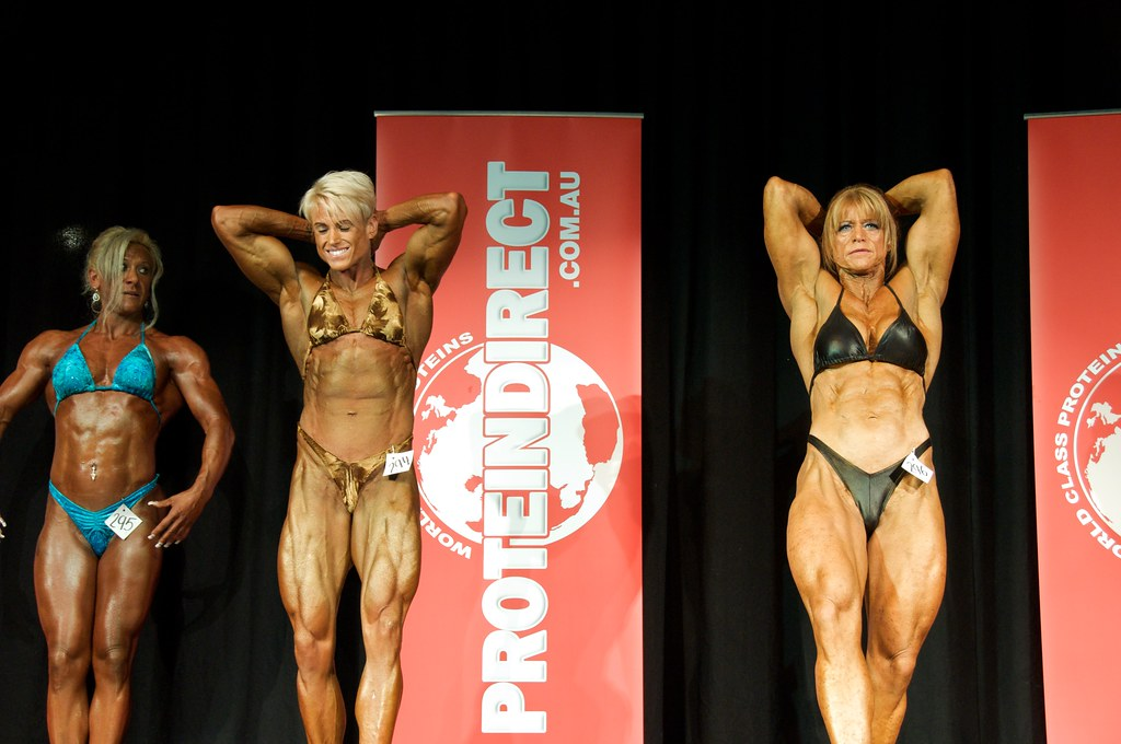 Female bodybuilders, over 55 kg class | Prejudging, IFBB