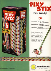 Sunline - Pixy Stix - trade ad - Candy Wholesaler magazine - April 1963