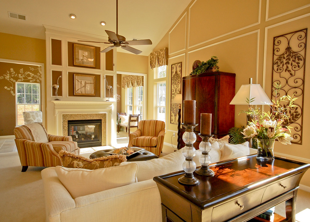 Ryan homes ryan homes model living room existing light for Homes r us living room