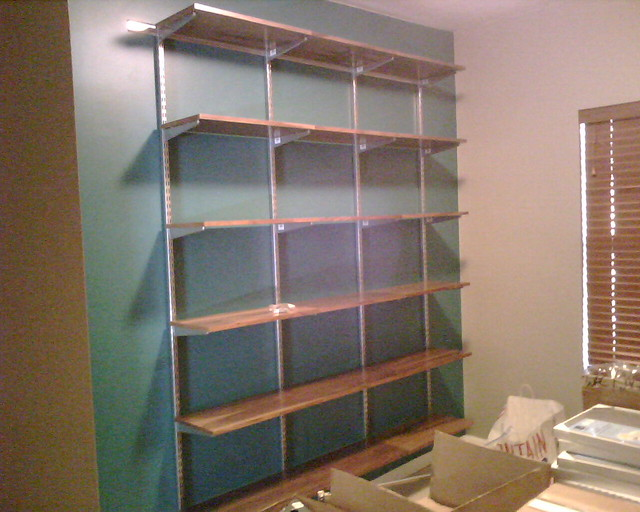My new Elfa shelving | The focal-point wall of our new ...