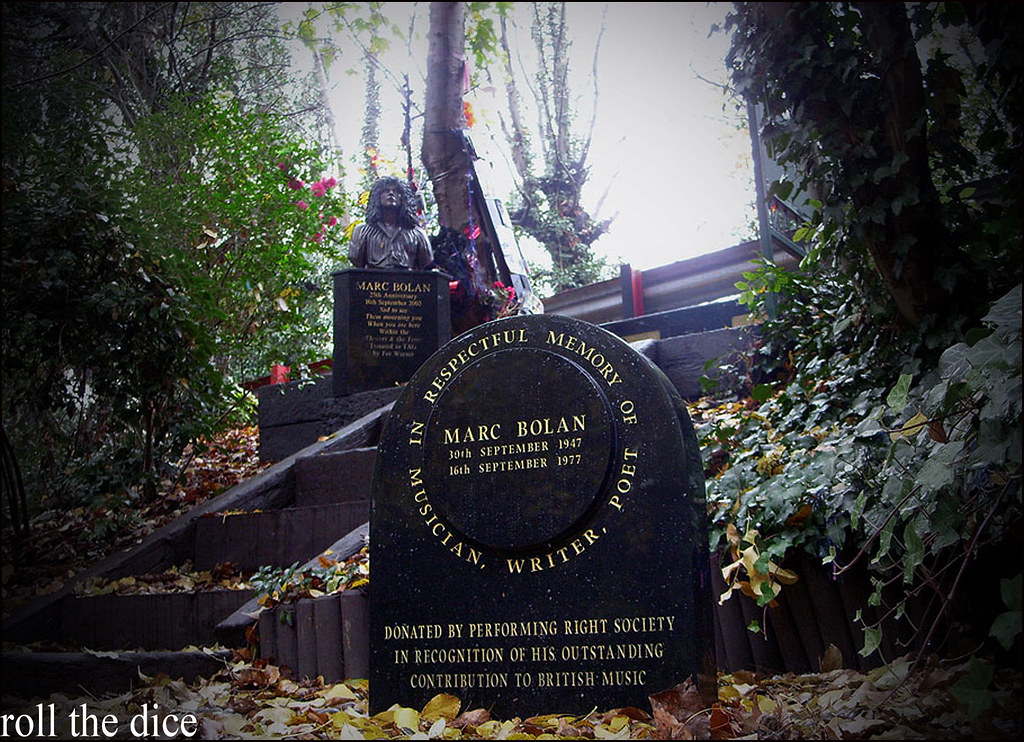 Marc Bolan Shrine Marc Bolan Died Here Aged 29 In