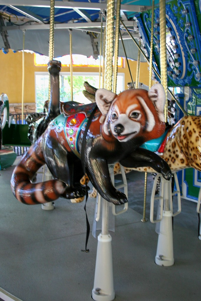 Turtle Back Zoo Carousel Red Panda The Endangered
