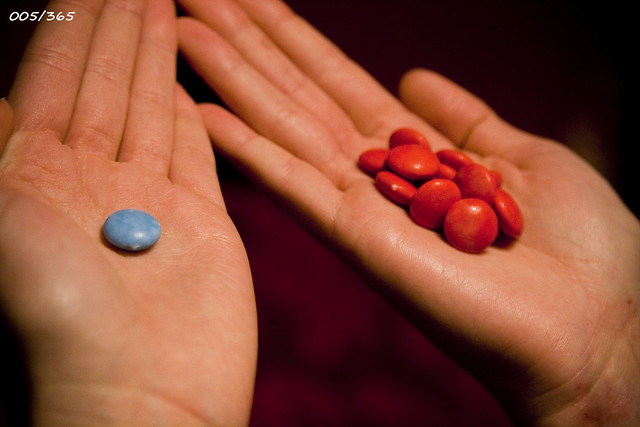 red or blue pill essays