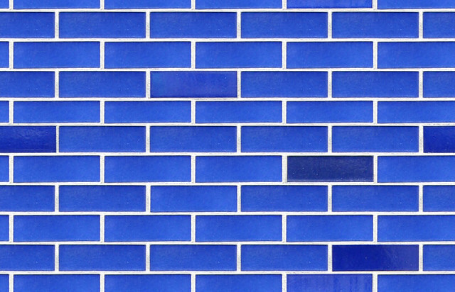 Blue Ceramic Wall Seamless Tile Taken From The Circle On