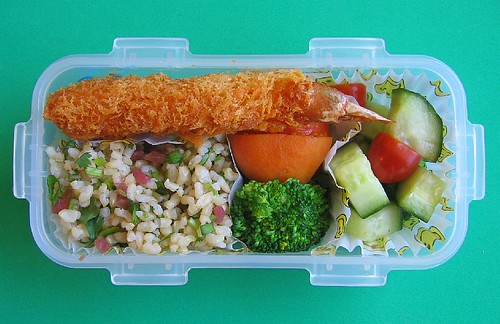 Fried shrimp lunch for preschooler | by Biggie*