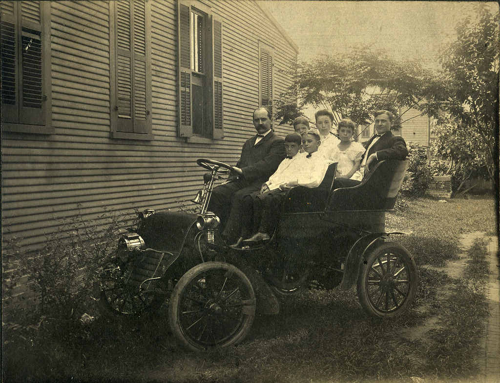 Family In A 1903 Cadillac Model A Tonneau The Model A