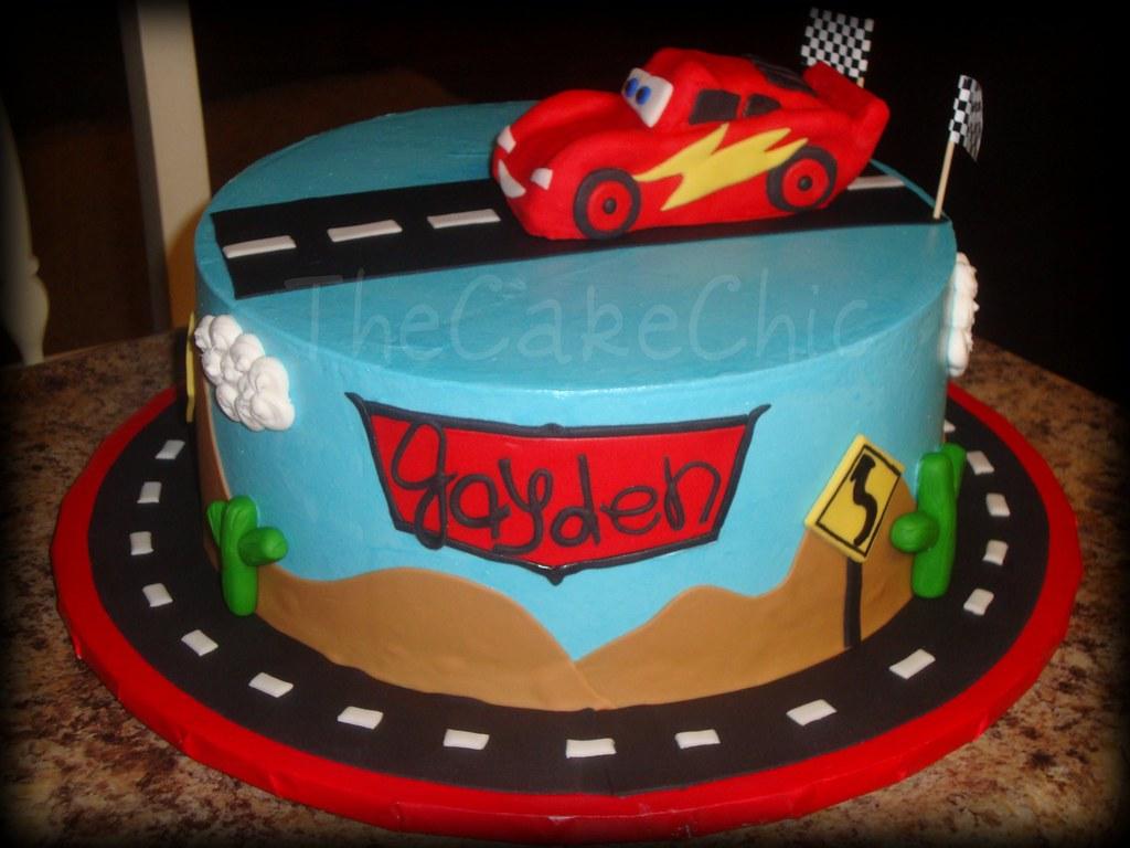 Disney Cars Cake Disney Cars Cake. French vanilla cake ...