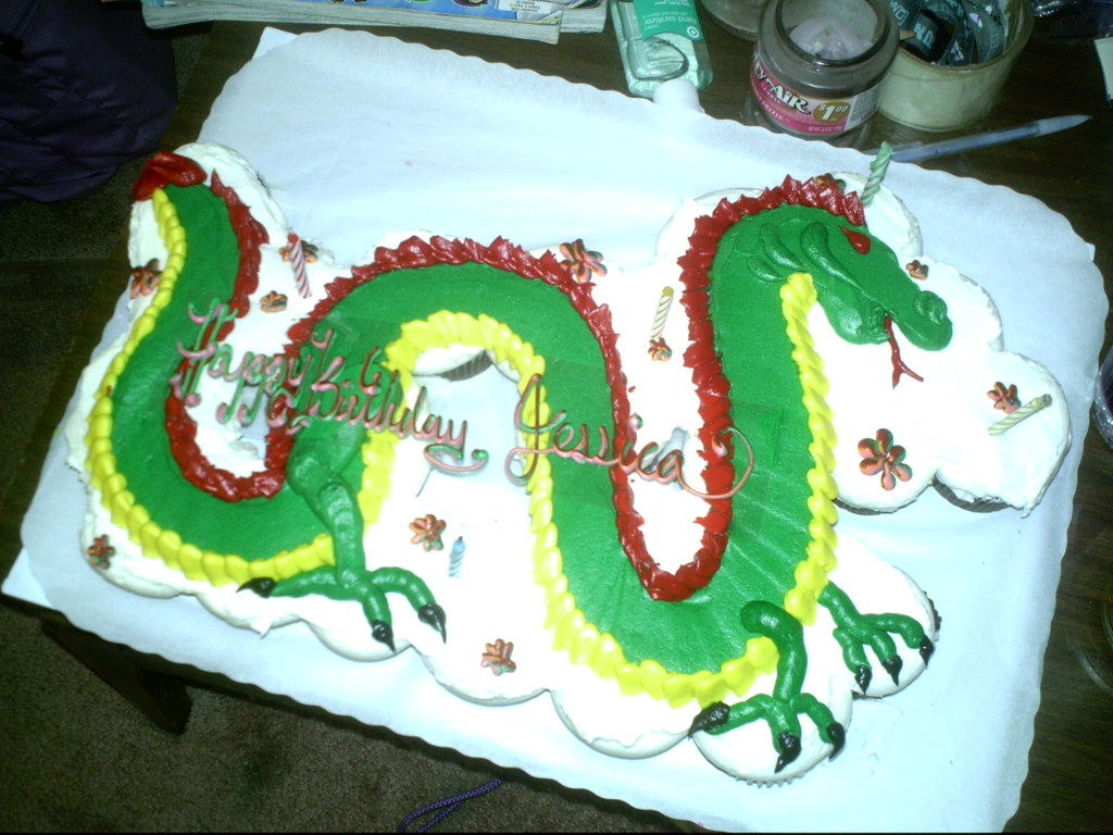Cake Designs Safeway : cupcake dragon cake Store bought cake from Safeway ...