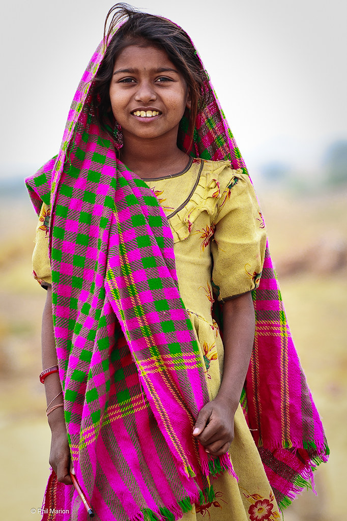 Rajasthani Village Girl  Phil Marion  Flickr-8206