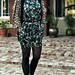 dress+blouse+vest+tights+sunglasses+heels+shoes+print mixing