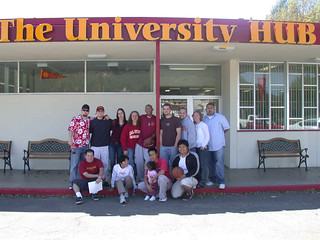 Students in front of the Hub | by California State University Channel Islands