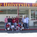 Students in front of the Hub