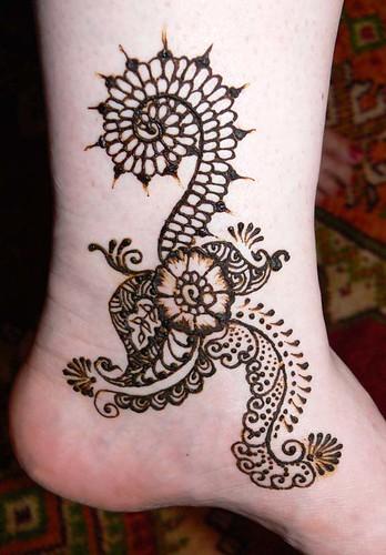 henna ankle design flickr photo sharing. Black Bedroom Furniture Sets. Home Design Ideas