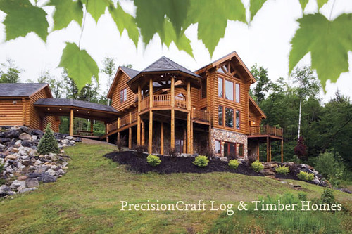 Milled log home in maine mckinley log home floor plan by for Maine home plans