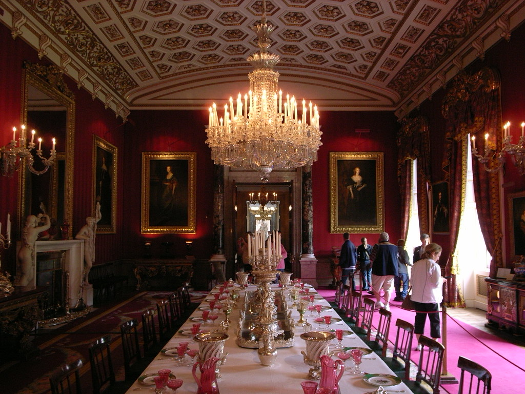 Chatsworth house the great dining room chatsworth house for Dining room c house of commons