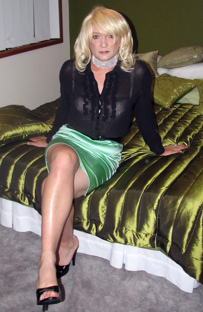 Green Skirt And Black Top  Linda Karen  Flickr-6100