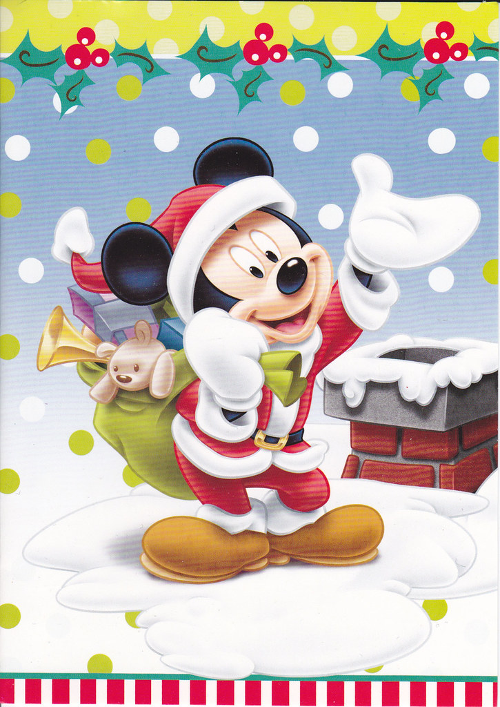 Mickey Mouse Christmas Card | Inside: Christmas Greetings to… | Flickr