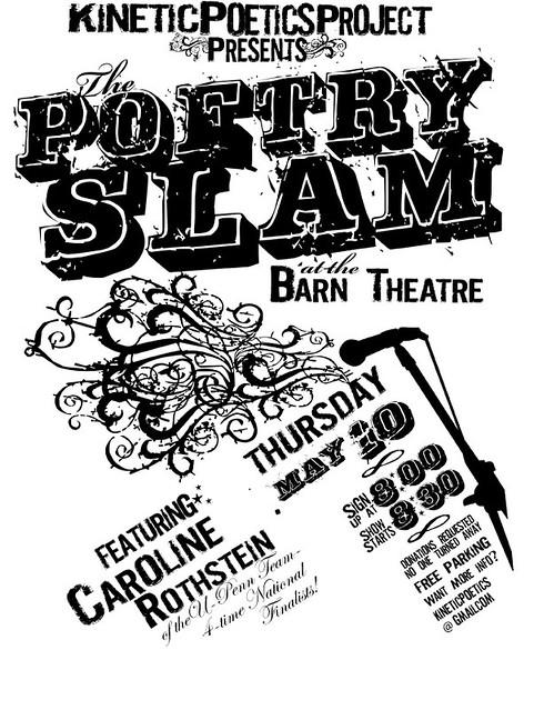 Ucsc Poetry Slam Flyer Big Ups To The Font Cocaine Sans