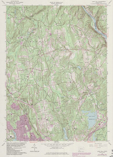 Long Hill Quadrangle 1984 - USGS Topographic Map 1:24,000 | by uconnlibrariesmagic