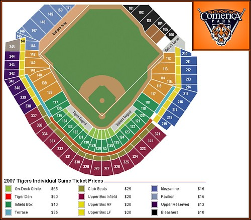 Comerica Park Seating