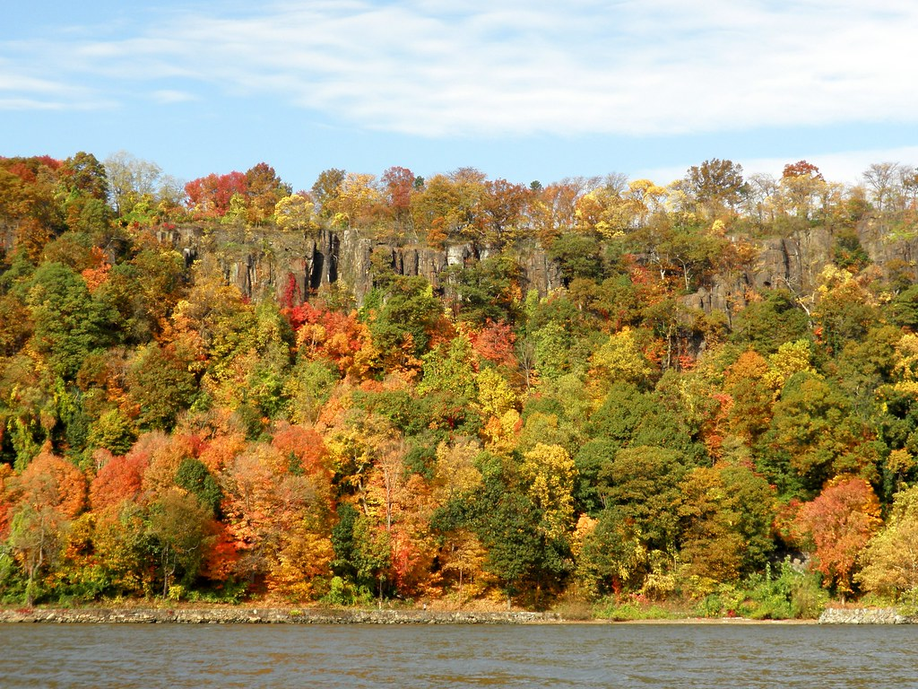 Fall Colors The New Jersey Palisades On The Hudson River