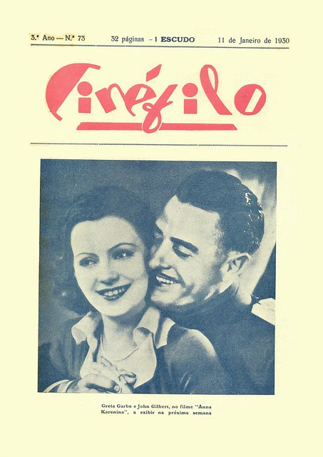 Cinéfilo, No. 73, January 11 1930 - cover