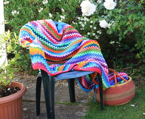 Granny stripe blanket | by Knitwise1
