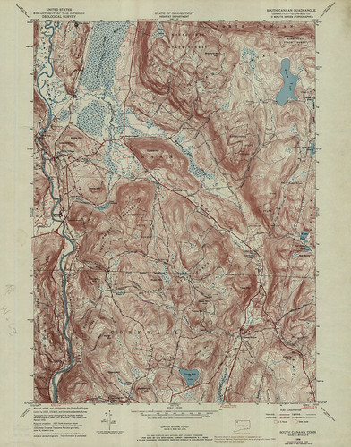 South Canaan Quadrangle 1969 - USGS Topographic Map 1:24,000 | by uconnlibrariesmagic