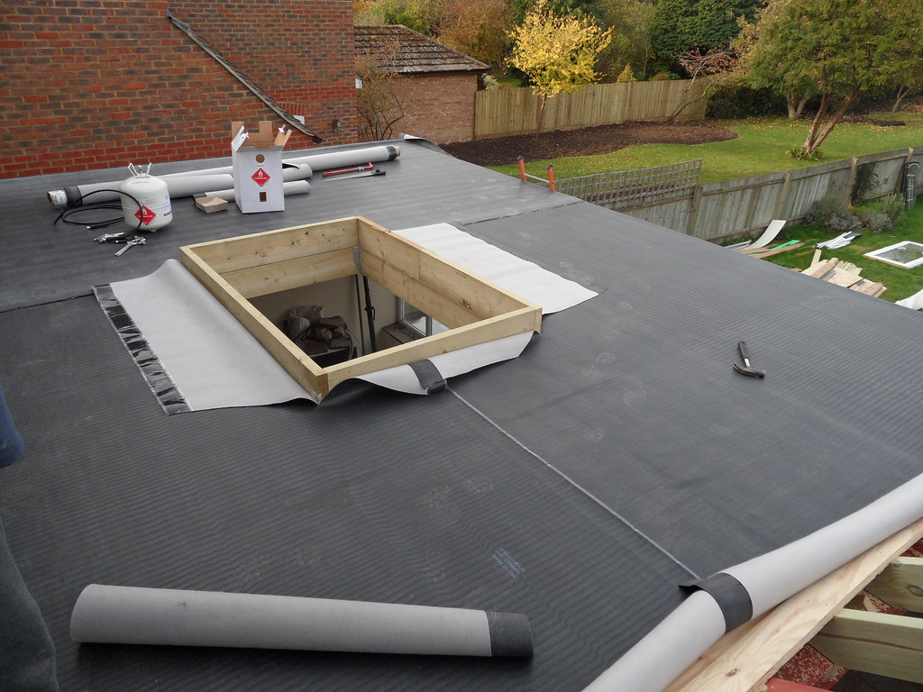 Epdm roofing in progress this is the stage before all the flickr - Advantages using epdm roofing membrane ...