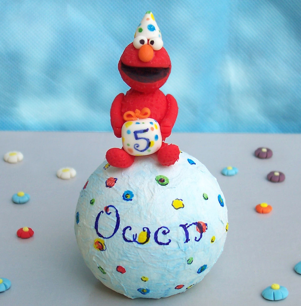 Elmo birthday cake topper -Personalized, handmade  Funny, c ...